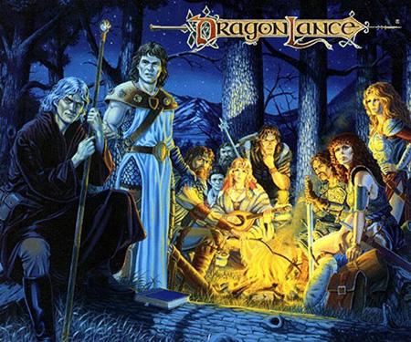 Estos son los famosos personajes de la trilogía Crónicas de la Dragonlance, que como el resto de la saga tiene lugar en el mundo de Krynn
