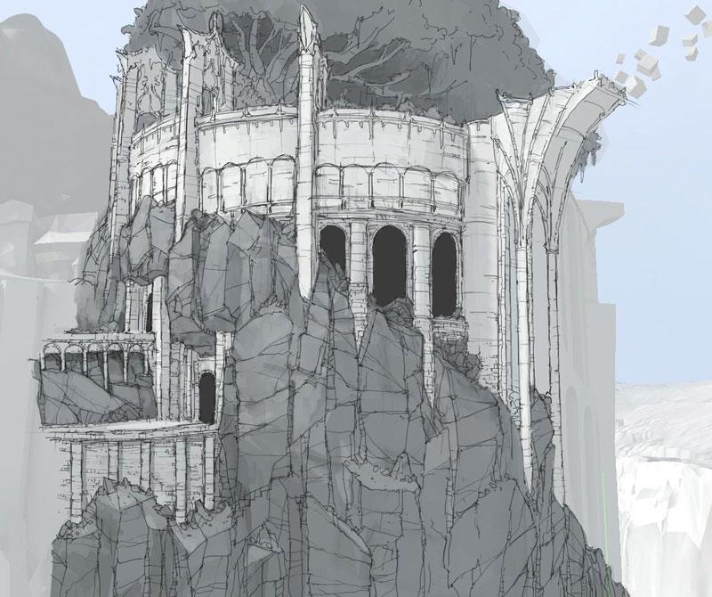 Concept art de una torre