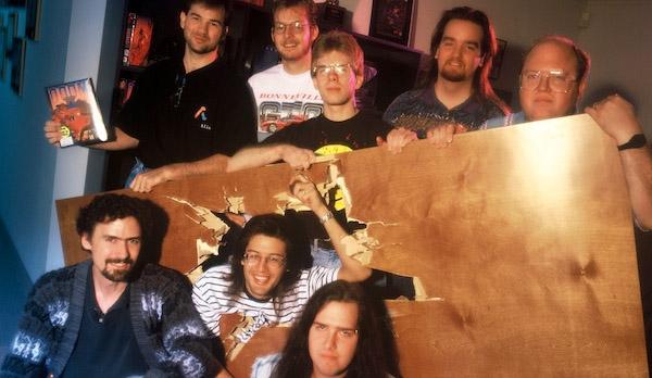 El equipo de Id Software en el lanzamiento del Doom