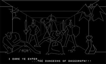 Dungeons of Daggorath contaba con unos gráficos vectoriales impactantes para 1982