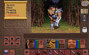 Westwood reaprovechó gran parte del motor gráfico del EOTB 2 para Lands of Lore