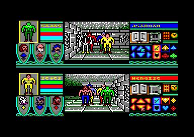 Incluso en ordenadores de 8 bits, como el Amstrad CPC, Bloodwych tenía un divertido modo cooperativo a pantalla partida