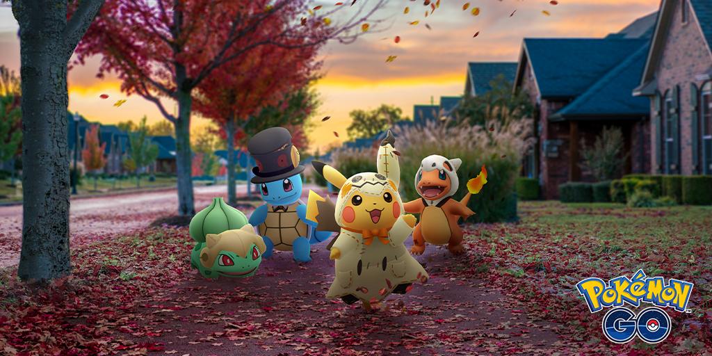 Todo listo para el evento de halloween de pokemon go
